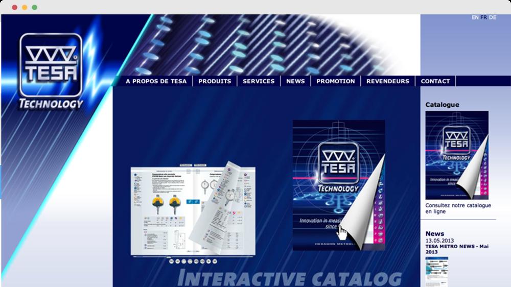 Webseite - TESA SA, Herstellung und Verkauf von qualitativ ...